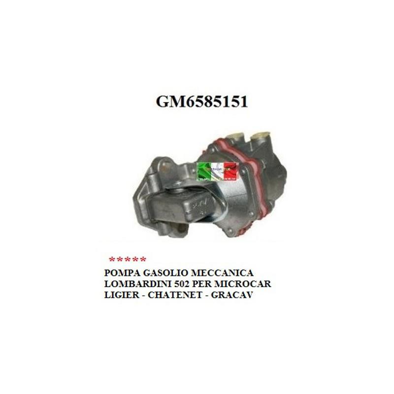 POMPA GASOLIO MECCANICA LOMBARDINI 502 MICROCAR LIGIER CHATENET GRECAV GM6585151