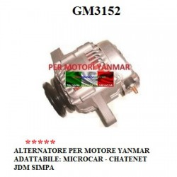 GENERATOR ALTERNATOR FOR YANMAR MICROCAR CHATENET JDM SIMPA ENGINE