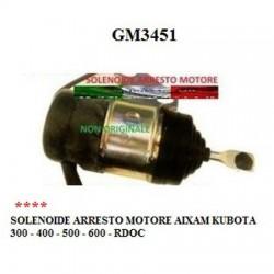 SOLENOID ENGINE STOP AIXAM KUBOTA