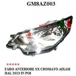 LEFT HEADLIGHT CHROME