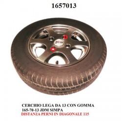 CERCHIO CON GOMMA 165.70.13