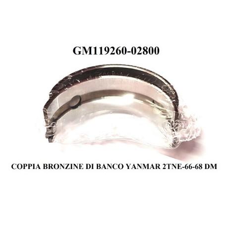 COPPIA BRONZINE DI BANCO YANMAR